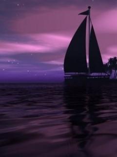 Purple Sea Mobile Wallpaper