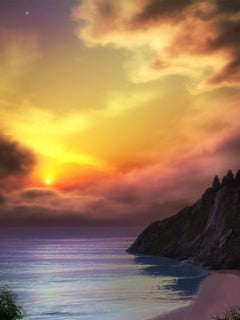 Sunset Scene Mobile Wallpaper