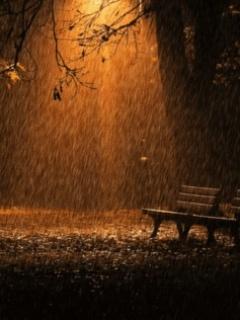Light Rain Mobile Wallpaper