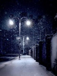 Street Lights And Ice Mobile Wallpaper