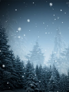 Animated Snowflakes Mobile Wallpaper