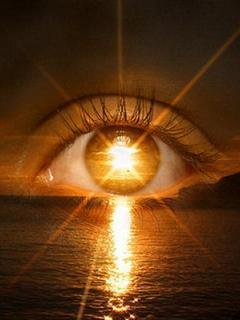 Sunset Eye Mobile Wallpaper