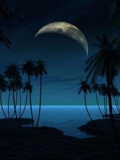 Night At Sea Mobile Wallpaper