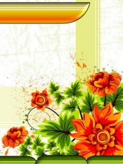 The Orange Flowers Mobile Wallpaper