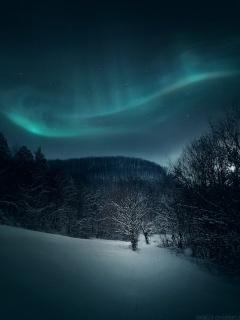 Winter Aurora Mobile Wallpaper
