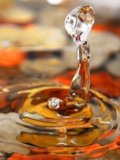 Orange Water Mobile Wallpaper