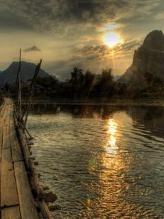 Scenic River Mobile Wallpaper