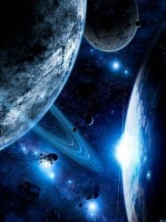 Spaceblue Mobile Wallpaper
