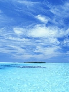 Clear Blue Water Best Nature Never Seen Mobile Wallpaper