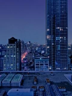Manhattan Night Mobile Wallpaper