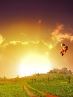 Sun Ballon Mobile Wallpaper