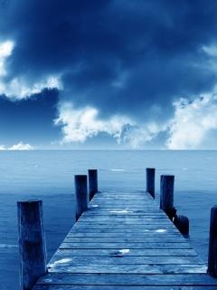 Nice Blue Bridge Mobile Wallpaper
