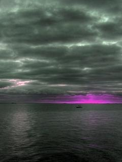 Dark Sky And Purple Mobile Wallpaper