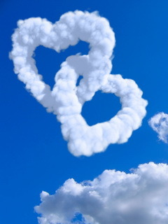Clouds Heart Mobile Wallpaper