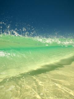 Emerald Wave Mobile Wallpaper