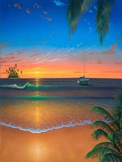Island Beach Mobile Wallpaper