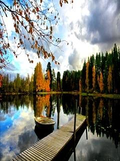Lake Autumn Mobile Wallpaper