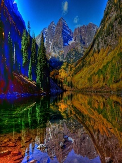 Colorful Reflection Mobile Wallpaper
