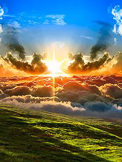 Sun Lights Mobile Wallpaper