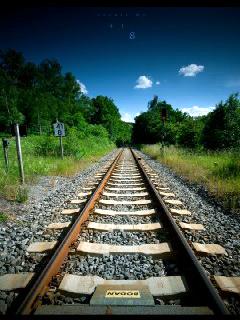 Train Line Mobile Wallpaper