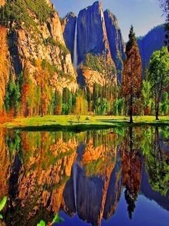 Mountain Reflection Mobile Wallpaper
