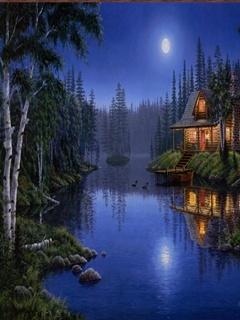 Moon Light Mobile Wallpaper