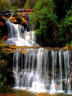 Cascading Waterfalls Mobile Wallpaper