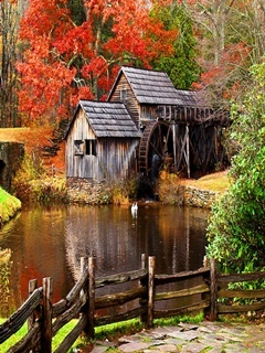 Water Mill Mobile Wallpaper