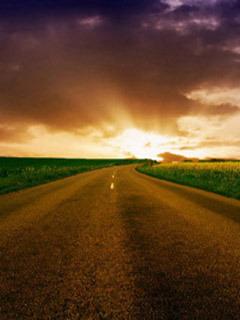 Road To Horizon Mobile Wallpaper