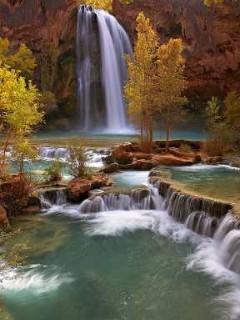 Lovely Falls View Mobile Wallpaper