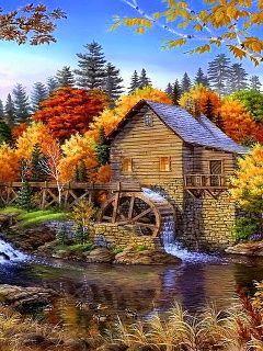 Watermill Mobile Wallpaper