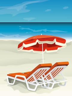 Rest On Beach Mobile Wallpaper