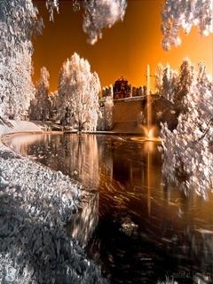 Lake White Mobile Wallpaper