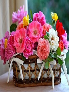 Flower Basket Mobile Wallpaper