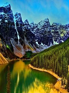 Lake Mountain Mobile Wallpaper