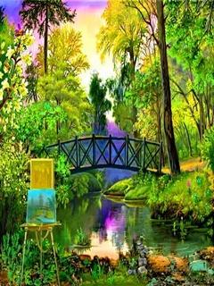 Green And Bridge Mobile Wallpaper