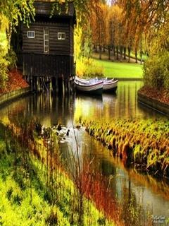 River N Boats Mobile Wallpaper