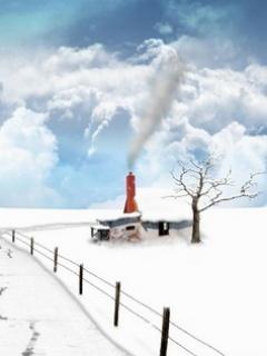 Winter Farms Mobile Wallpaper