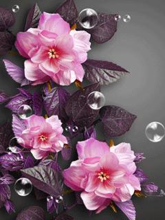 Cute Pink Flowers Mobile Wallpaper