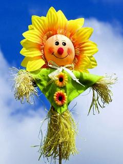 Smiley Flower Mobile Wallpaper