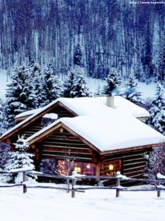 Winter Homes Mobile Wallpaper
