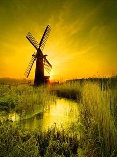 Wind Mill Mobile Wallpaper