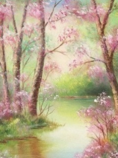 Pink River Mobile Wallpaper