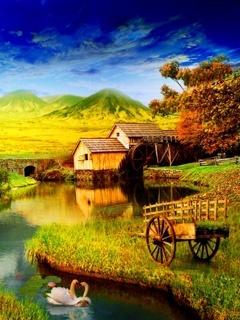 Nice Home Nature Mobile Wallpaper