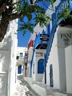 Greek Street Mobile Wallpaper