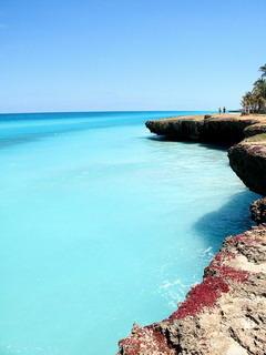Sea Cliffs Varadero Cuba Mobile Wallpaper