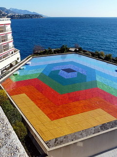 Mosaic Pool In Monaco Mobile Wallpaper