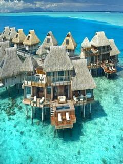 Hilton Bora Bora Mobile Wallpaper