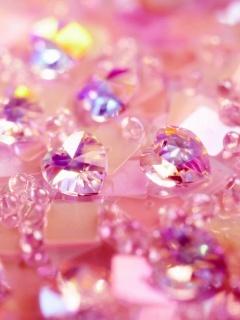 Pink Diamonds Mobile Wallpaper