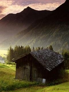 Mountain House Mobile Wallpaper